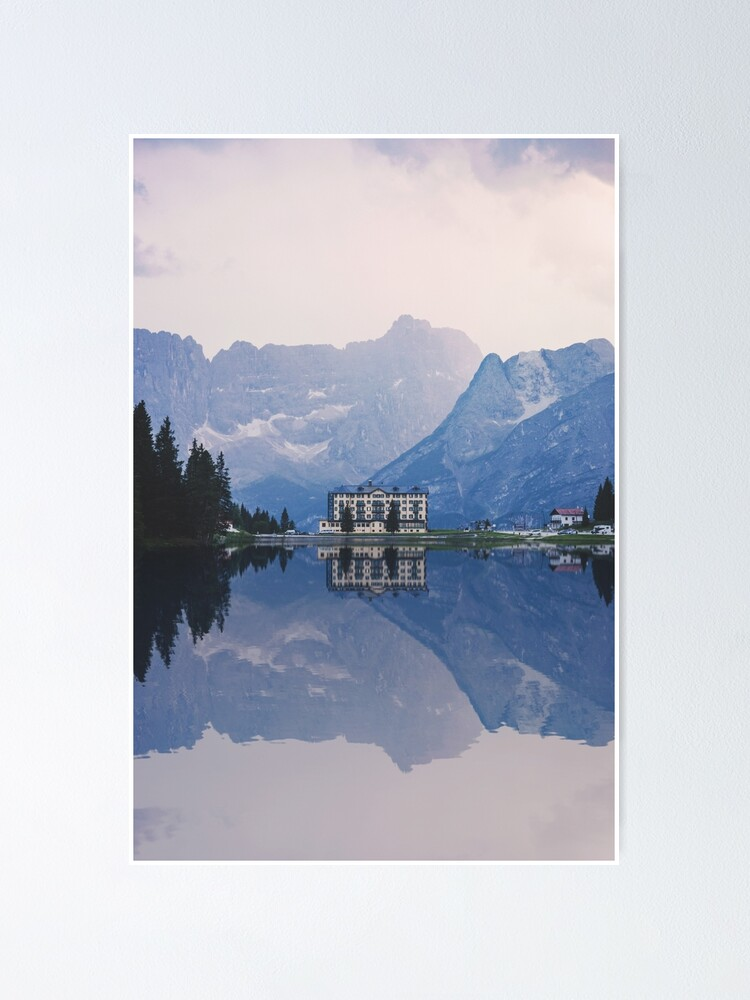 Alternate view of Grand Mountain Hotel - Dolomites Collection Poster