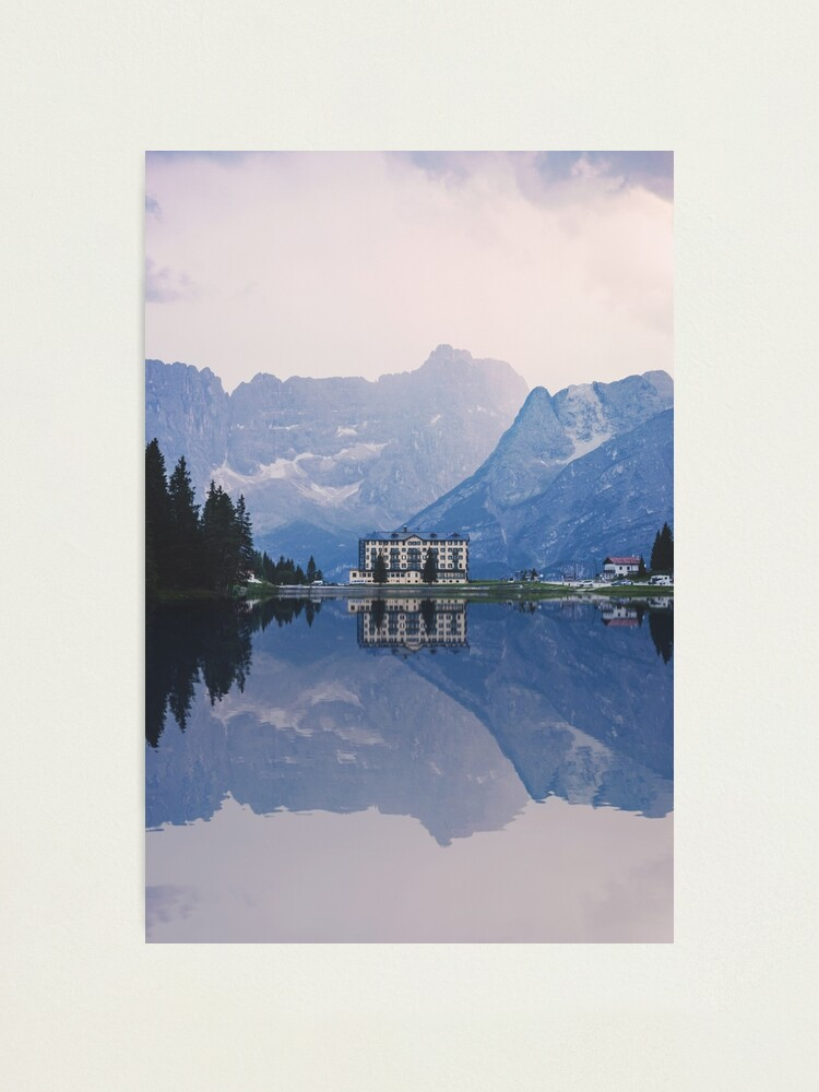Alternate view of Grand Mountain Hotel - Dolomites Collection Photographic Print