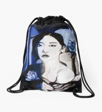 Asiatic mood Drawstring Bag