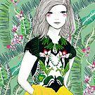 Ferns and Fuschia by Alicia Rogerson