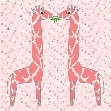 Coral Giraffe Print by 2HivelysArt