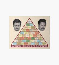 Swanson Pyramid of Greatness Art Board