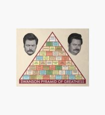 Swanson Pyramid of Greatness Art Board