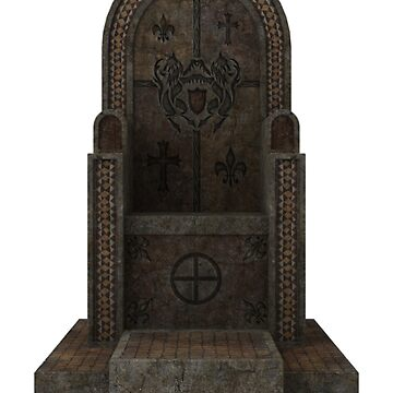 Gothic Stone Throne by ClothingSimple