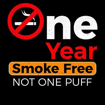 One Year Smoke Free Anniversary Celebration Gift by pbng80