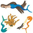Merpeople on the Move - Sticker Set 2 by TooCoolUnicorn
