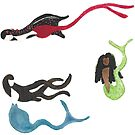 Merpeople on the Move - Sticker Set 3 by TooCoolUnicorn