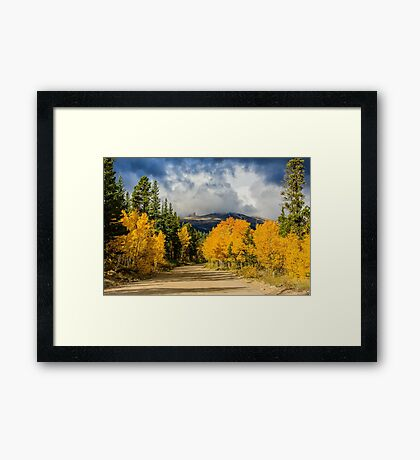 Fall Rocky Mountain Road  Framed Print