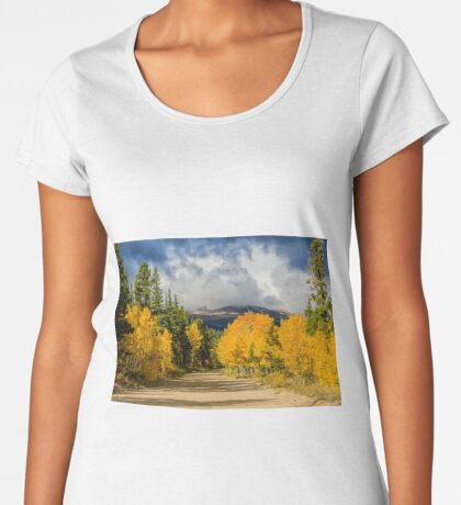 Fall Rocky Mountain Road  Women's Premium T-Shirt
