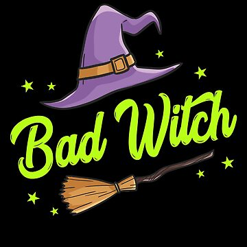 Bad Witch Halloween Unisex Trick Or Treat Costume by BUBLTEES