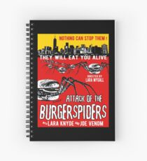 Attack of the burgerspiders Spiral Notebook