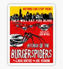 Attack of the burgerspiders Sticker