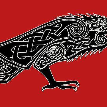 Celtic Raven 2 by ingridthecrafty