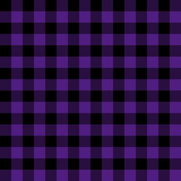 Rustic Purple and Black Buffalo Plaid Pattern by KokoloHG