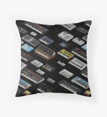 Synthesizer Fan Collection Throw Pillow