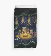 Chrono Camping Pixels Duvet Cover