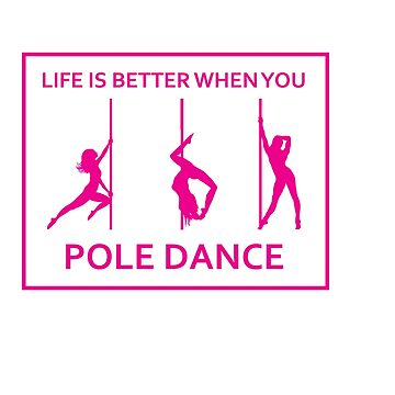 This Is My Pole Dancing Tshirt Design Life is better by Customdesign200