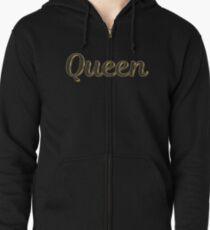 Vintage queen Zipped Hoodie
