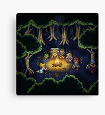 Chrono Camping Pixels Canvas Print