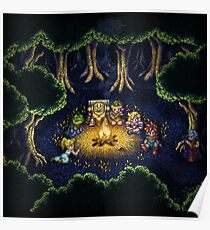 Chrono Camping Pixels Poster