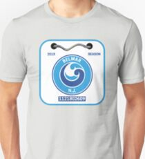 Belmar NJ Beach Badge Unisex T-Shirt