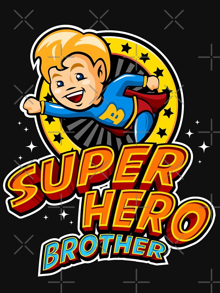 SuperHero Big And Little Brother T Shirt Birthday Gift By ToonTeez