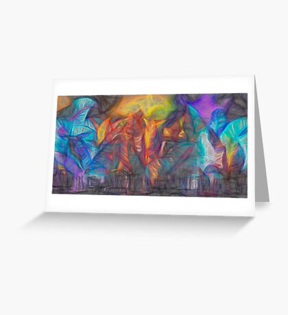 Sunset in Leaves  Greeting Card