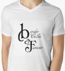 border collie fancier Men's V-Neck T-Shirt