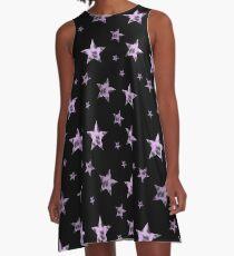 Pastel leopard print stars A-Line Dress