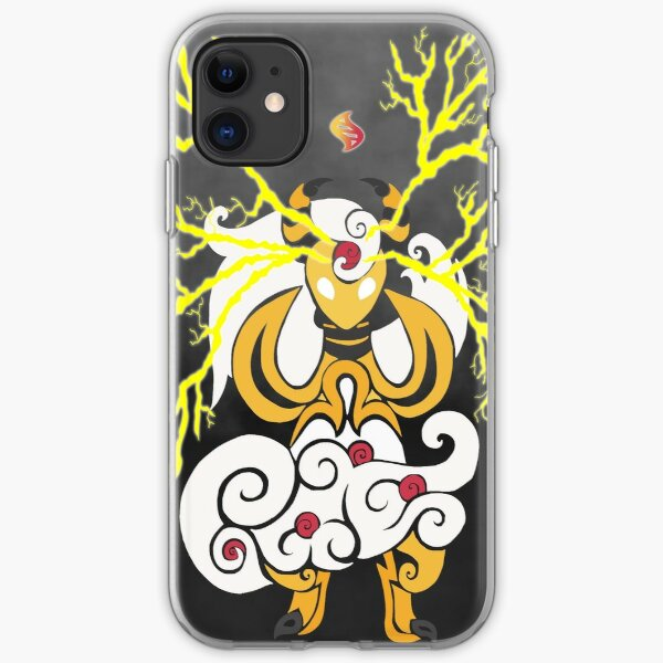 Tribalish Mega Ampharos - Eye of the Storm iPhone Soft Case