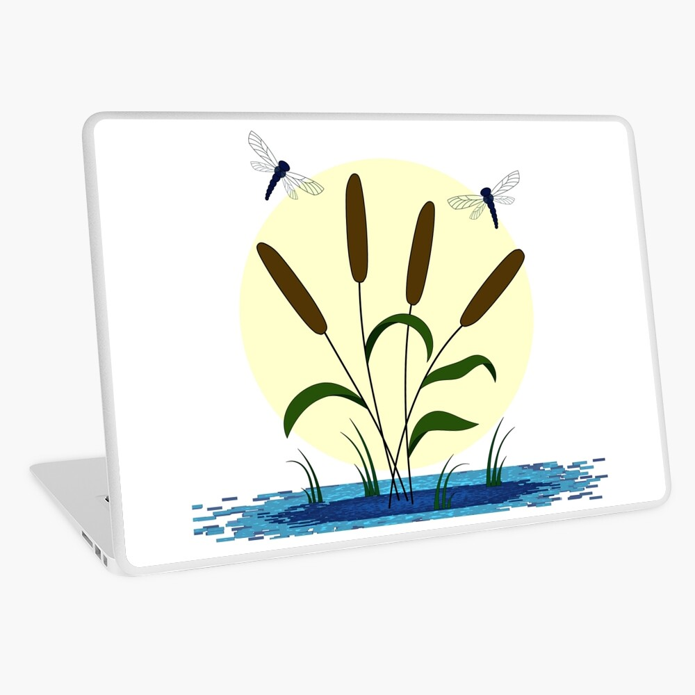 Cattails and Dragonflies Laptop Skin