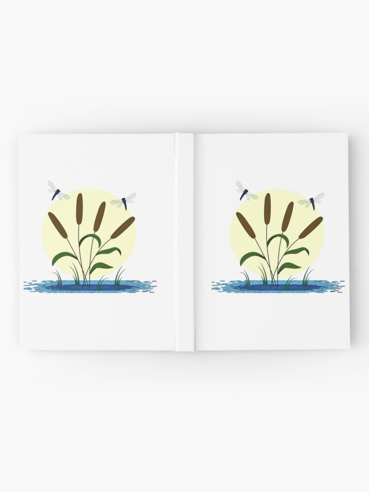 Alternate view of Cattails and Dragonflies Hardcover Journal
