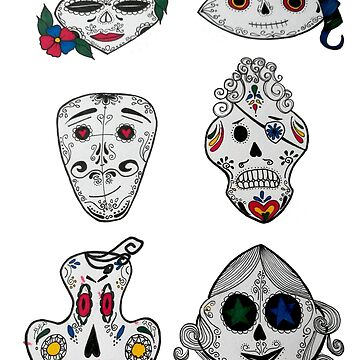 Candy Skull Characters Tattoo Design by Tamz-T