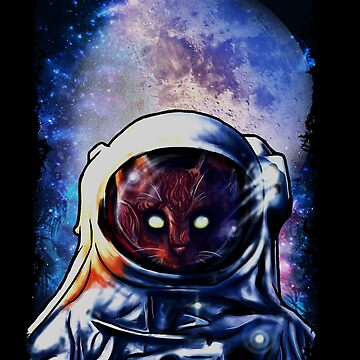 Cat In Space Astronaut by frittata