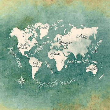 world map 151 green white #worldmap #map by JBJart