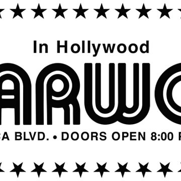 The Starwood in Hollywood (Black) by PissAndVinegar