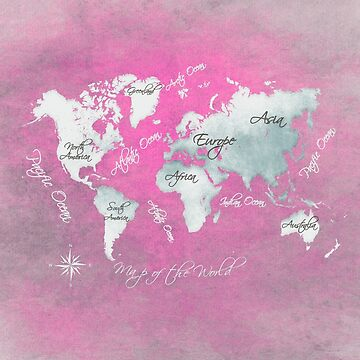 world map 152 magenta white #worldmap #map by JBJart