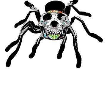 Day of the Dead Skull Tarantula Halloween Design by Ash-N-Finn