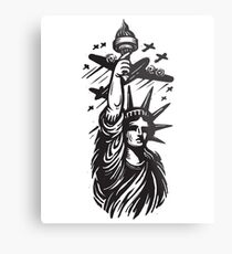 WW2 Vintage Statue of Liberty Flyby Metal Print
