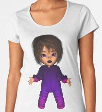 Cute Fun Toon Halloween Goth Baby Women's Premium T-Shirt