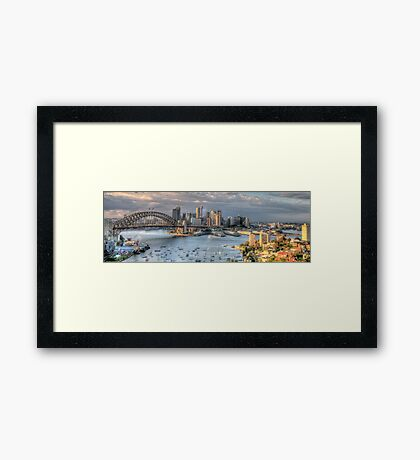Open Wide - Sydney Harbour - The HDR Experience Framed Print