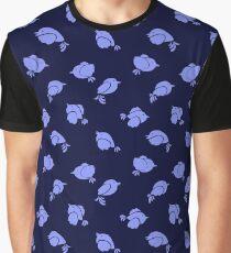 Baby Blue Birdies Graphic T-Shirt