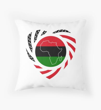 Black Murican Patriot Flag Series 2.0 Throw Pillow