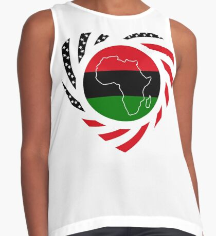 Black Murican Patriot Flag Series 2.0 Sleeveless Top
