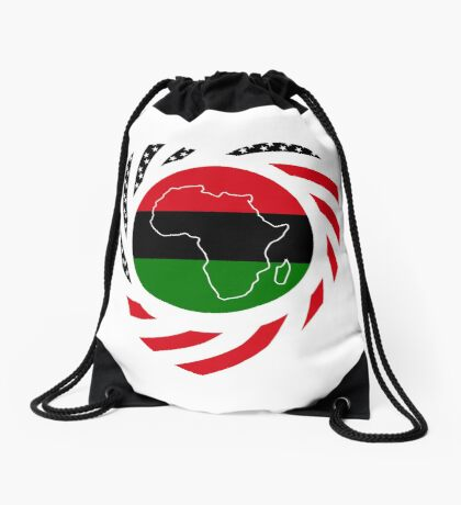 Black Murican Patriot Flag Series 2.0 Drawstring Bag