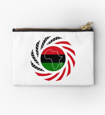 Black Murican Patriot Flag Series Zipper Pouch