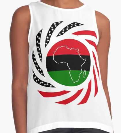 Black Murican Patriot Flag Series Sleeveless Top