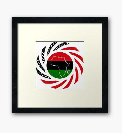 Black Murican Patriot Flag Series Framed Print