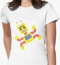 Captain Dad (robot) Women's Fitted T-Shirt