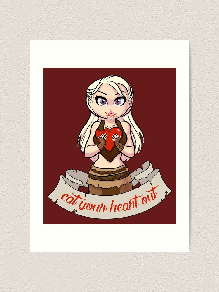 Alternate view of Eat Your Heart Out Art Print